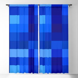 Blue Mosaic Blackout Curtain