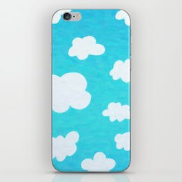 Happy Little Clouds iPhone Skin