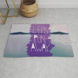 Let's Run Away: Manuel Antonio, Costa Rica Rug