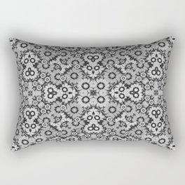 Geometric Stylized Floral Print Rectangular Pillow
