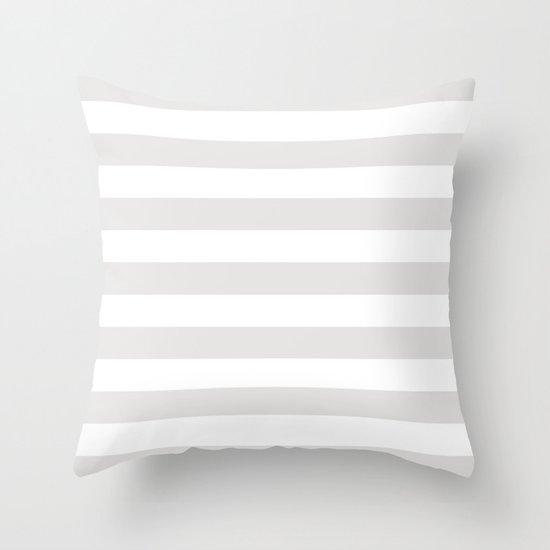 Horizontal Stripes (Platinum/White) by 10813apparel
