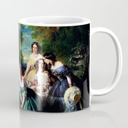 """Franz Xaver Winterhalter's masterpiece """"The Empress Eugenie surrounded by her Ladies in waiting"""" Coffee Mug"""