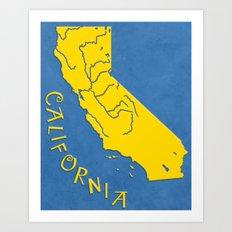California State Outline Art Print