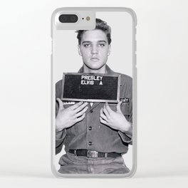 ELVIS PRESLEY - ARMY MUGSHOT Clear iPhone Case