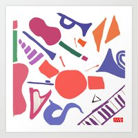 Instruments Art Print