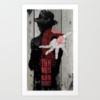 tom waits Art Prints featuring Tom Waits by J.C.D