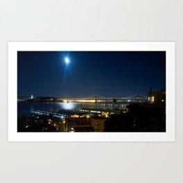 Moonlit dusk Art Print