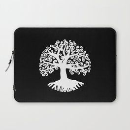 black and white abstract tree of life II Laptop Sleeve