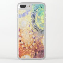 Circles Carnival Clear iPhone Case