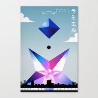 neon genesis evangelion Canvas Prints featuring Neon Genesis Evangelion - Angel 05: Ramiel by MNM Studios