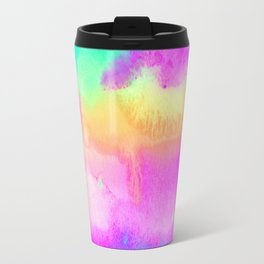Bright Abstract Expressionist Watercolor Travel Mug
