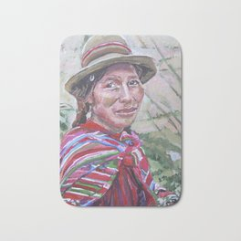 Woman in Peru Bath Mat