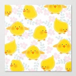 Chicks & spring Canvas Print