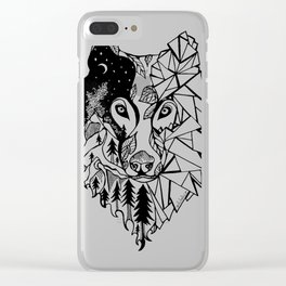 Prism Wolf Clear iPhone Case