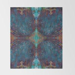 Blue angel geometry Throw Blanket