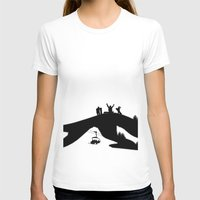 snowboard T-shirts featuring Snowboard by A&N2218