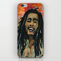 rasta iPhone & iPod Skins featuring Rasta  Man by gretzky