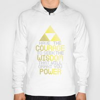 motivational Hoodies featuring Triforce Motivational by JesseThomas