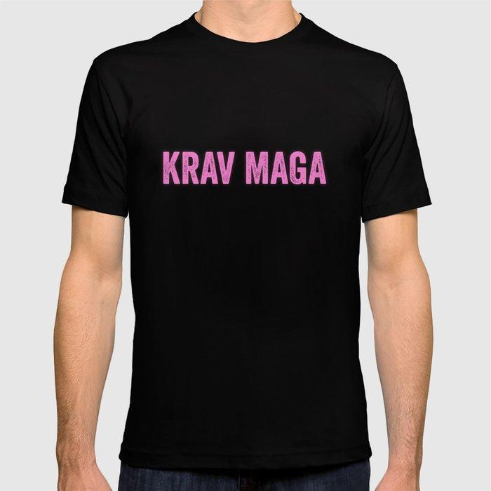 Krav Maga Girl Pink Idf Israeli Army Self Defense T Shirt By