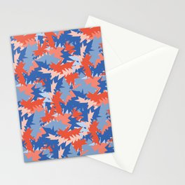 Memphis Style Abstract Geometric Texture Seamless Pattern Stationery Cards