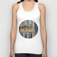 jewish Tank Tops featuring Blue Shutters in the Sun by Brown Eyed Lady