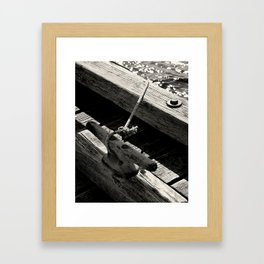 Dock Line Framed Art Print