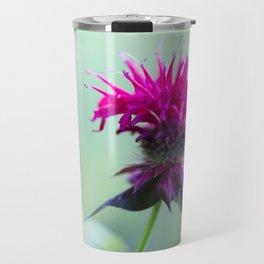 Pink Bee Balm Flower 2 Travel Mug