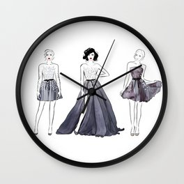 Three Fashion Girls Wall Clock