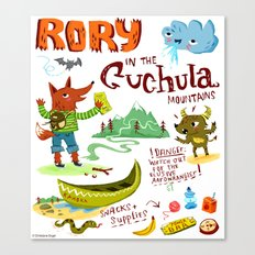 Rory In The Cuchula Mountains Canvas Print