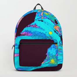 Turquoise Butterfly On A Dark Background #decor #buyart #society6 Backpack