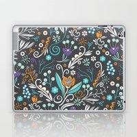Flower circle pattern, brown Laptop & iPad Skin