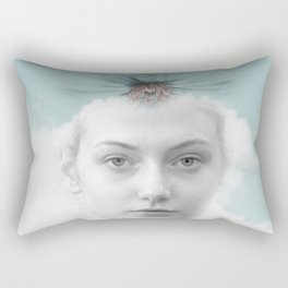 A girl who lived in a cloud Rectangular Pillow