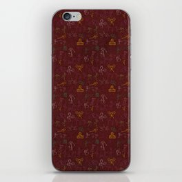 Old Hip Hop cave paintings iPhone Skin