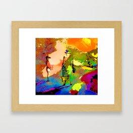 jardin multicolore Framed Art Print