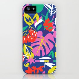 tropical pattern play iPhone Case