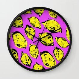 Pop art lemons Wall Clock