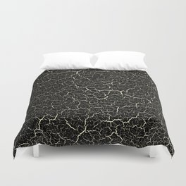 Black Crackle Duvet Cover