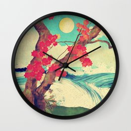 Waking to the Wild and Beautiful Ocean of Dhin Wall Clock