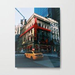 Xmas in New York City Metal Print