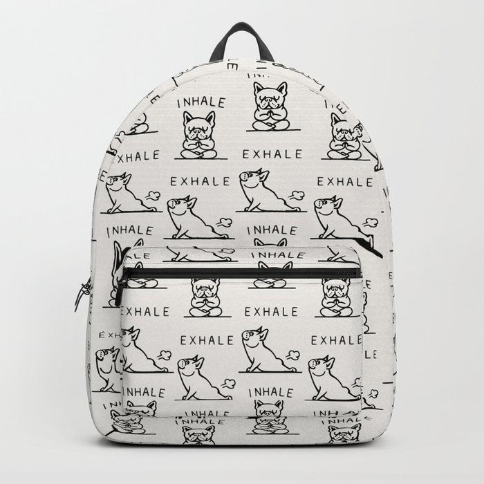 Inhale Exhale Frenchie Backpack