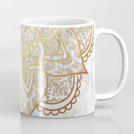 Mandala - Gold & Marble Coffee Mug