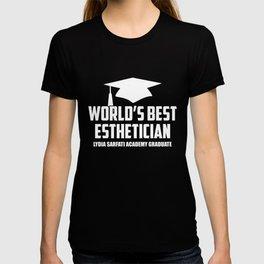 WORLDS BEST ESTHETICIAN - GRADUATE T-Shirt T-shirt