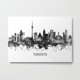 Toronto Canada Skyline BW Metal Print