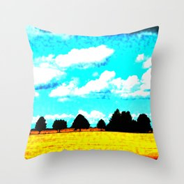 Surreal Countryside 2 Throw Pillow