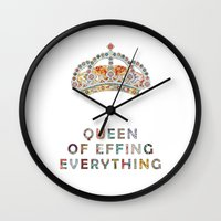 motivation Wall Clocks featuring her daily motivation by Bianca Green