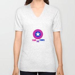 Stars and Stripes- Bisexual Steve Rogers Unisex V-Neck