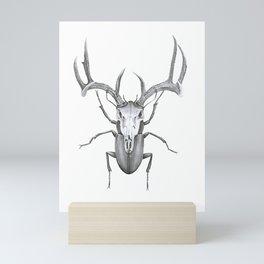 Mr Stag Beetle Mini Art Print