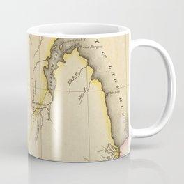 Vintage Map of Michigan (1822) Coffee Mug
