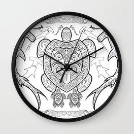 Nga mea o te moana (Creatures of the sea) Wall Clock