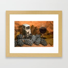 Bell and Howell with Black Grapes Framed Art Print